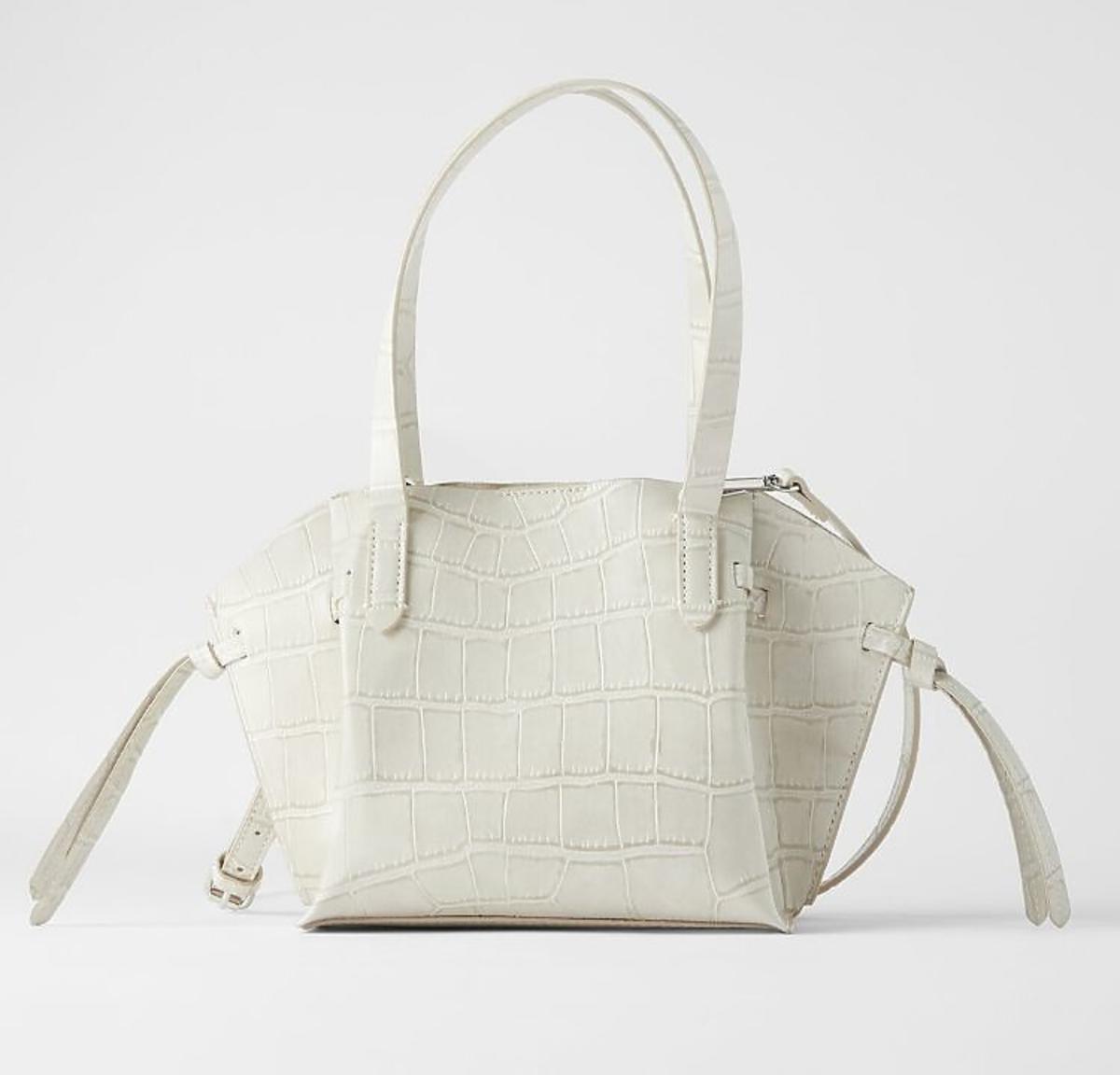 Biała torebka kuferek wyprzedaż Zara
