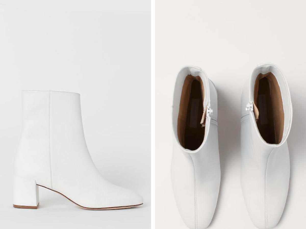 białe botki z H&M