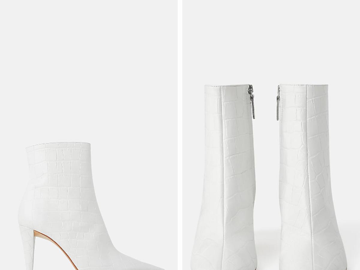 białe botki z Zary