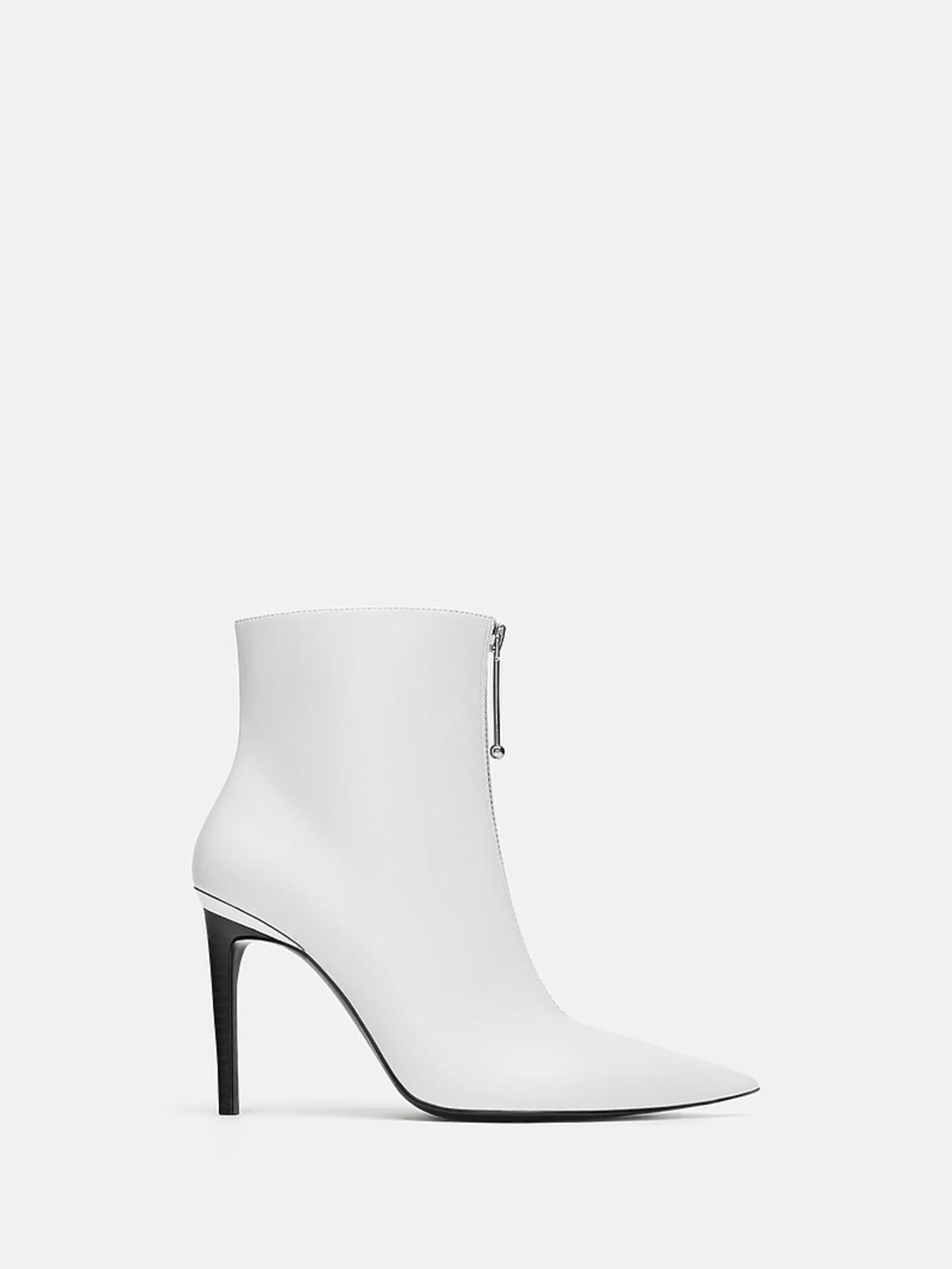 Białe botki Zara cena 199 zł