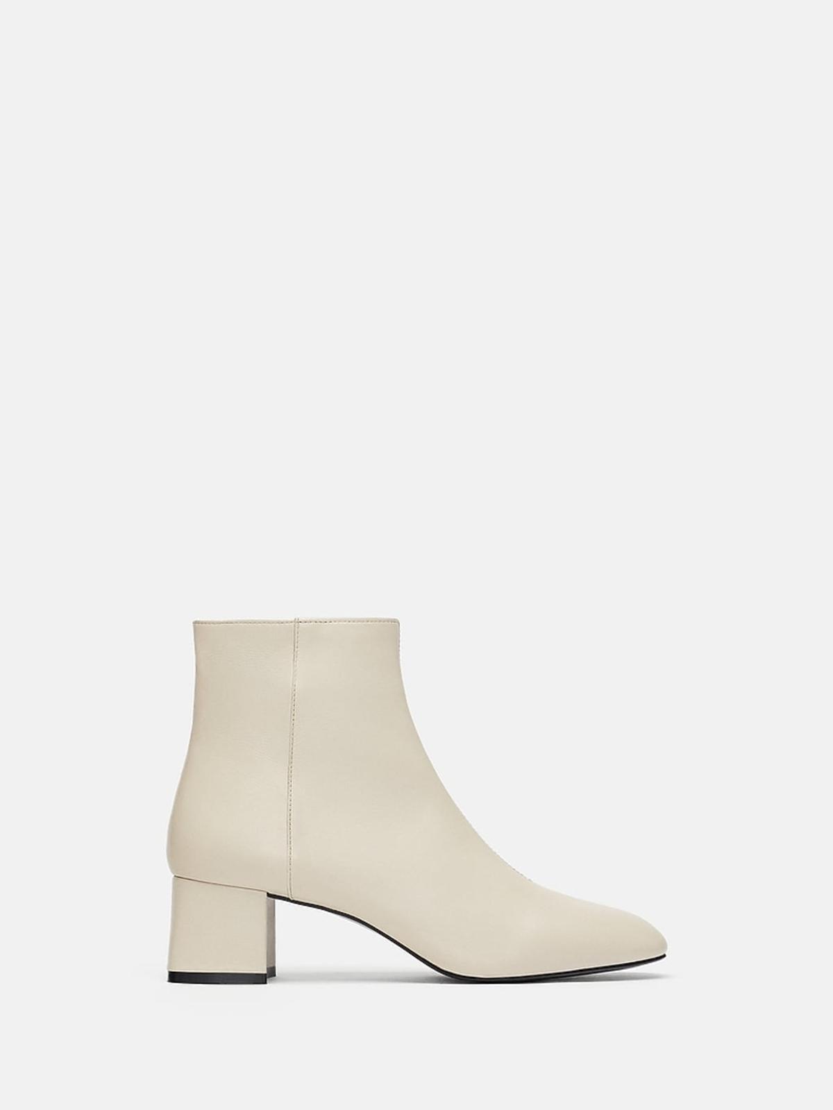 Białe botki Zara cena 259 zł