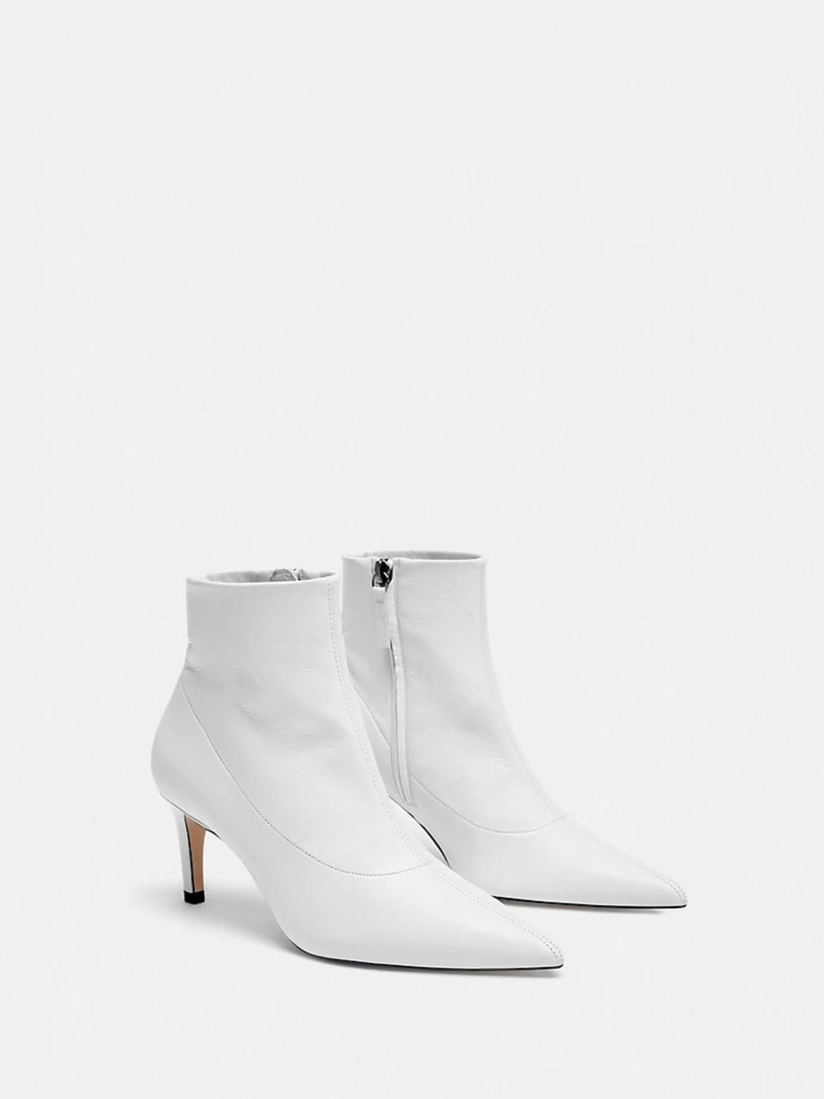 Białe botki Zara cena 299 zł