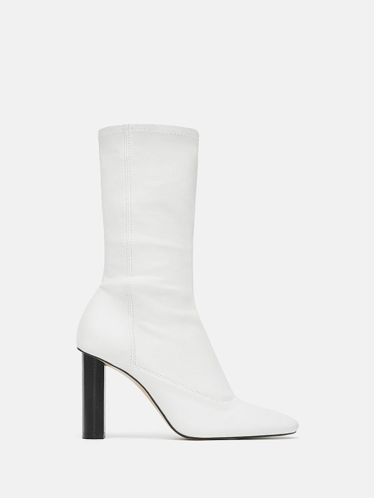 Białe botki Zara cena 459 zł