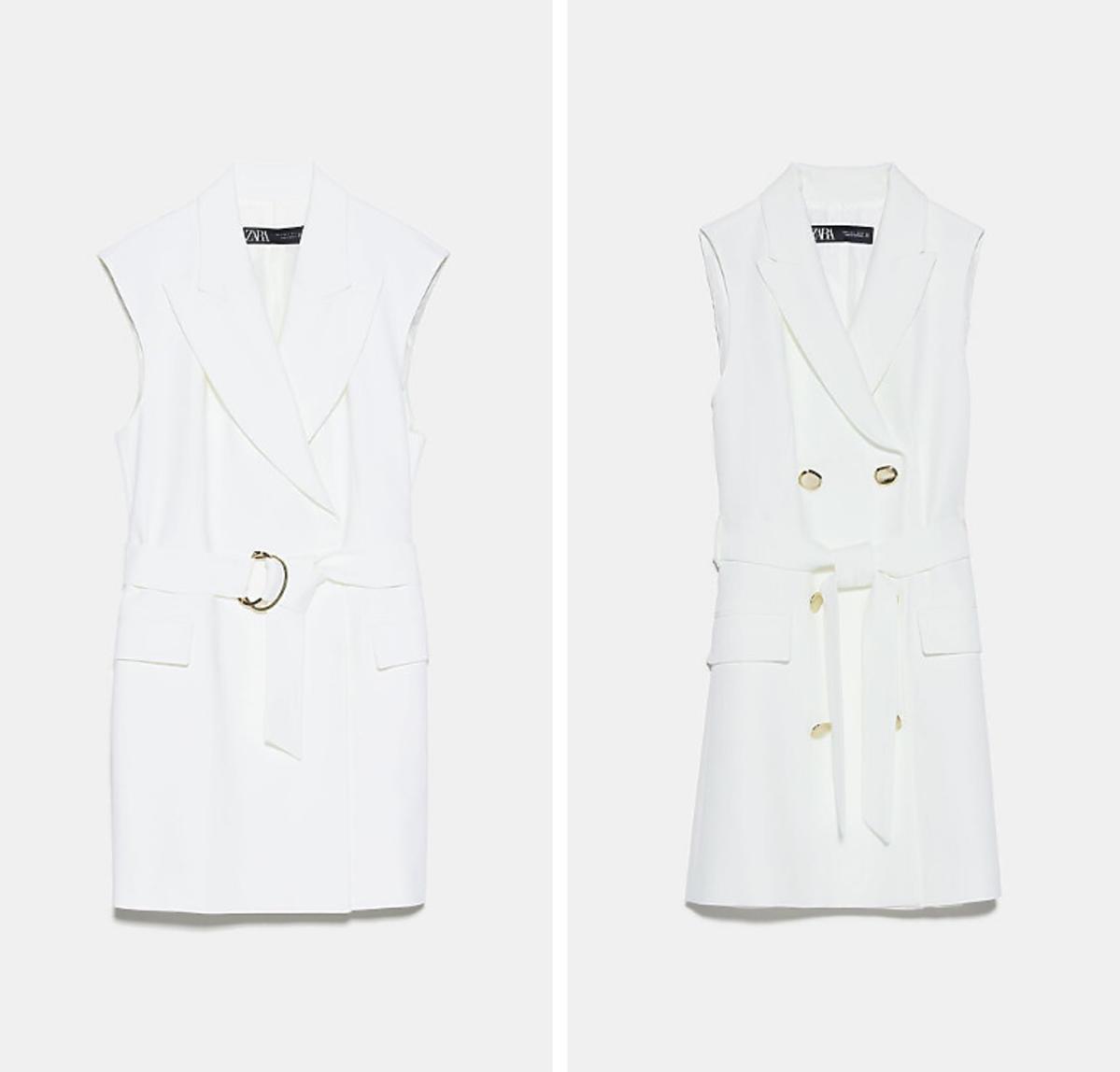 Białe kamizelki Zara