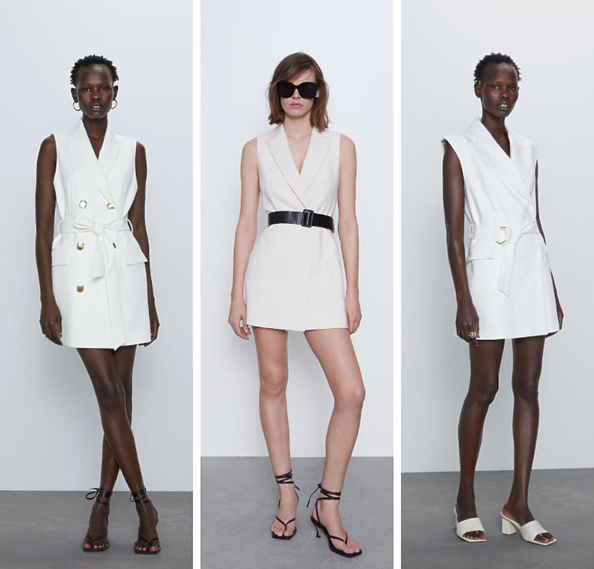 Białe kamizelki Zara wiosna 2020