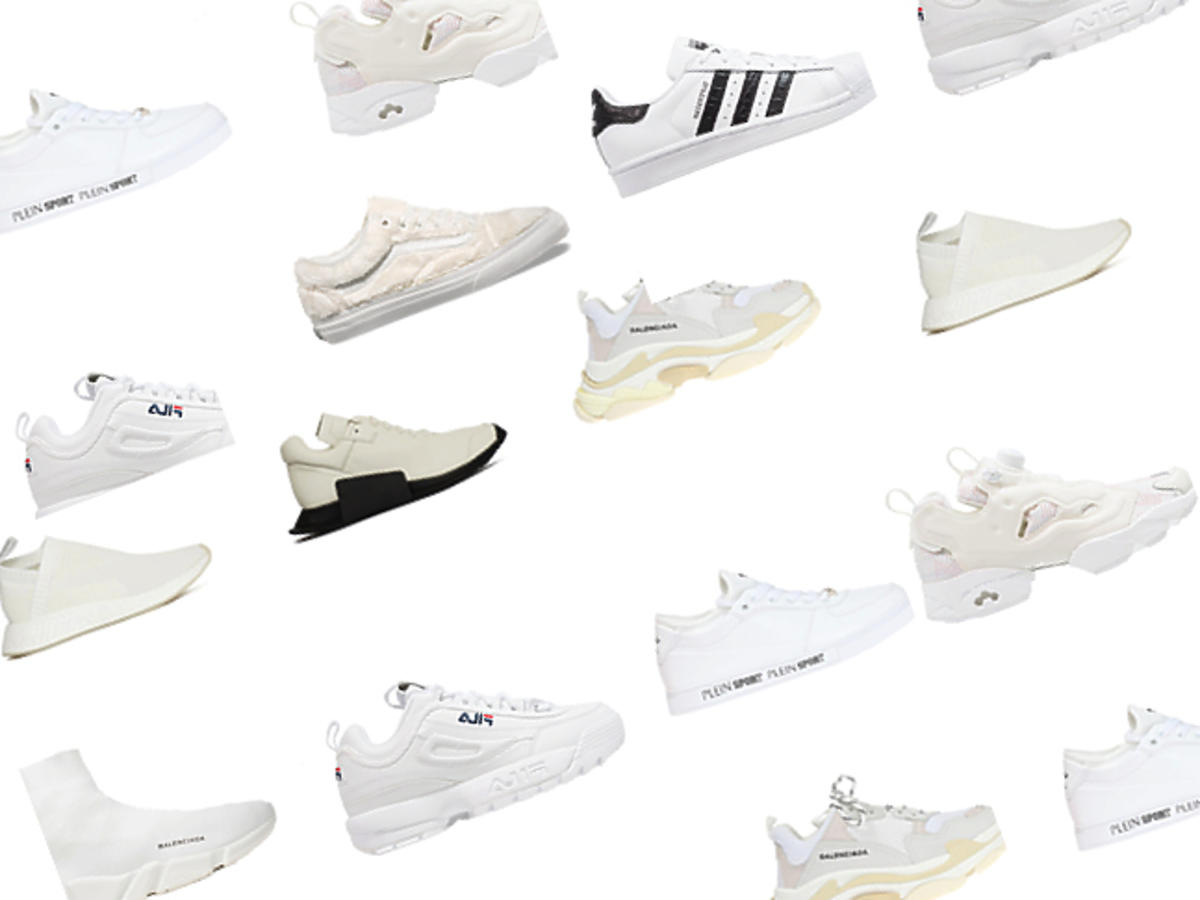 Białe sneakersy