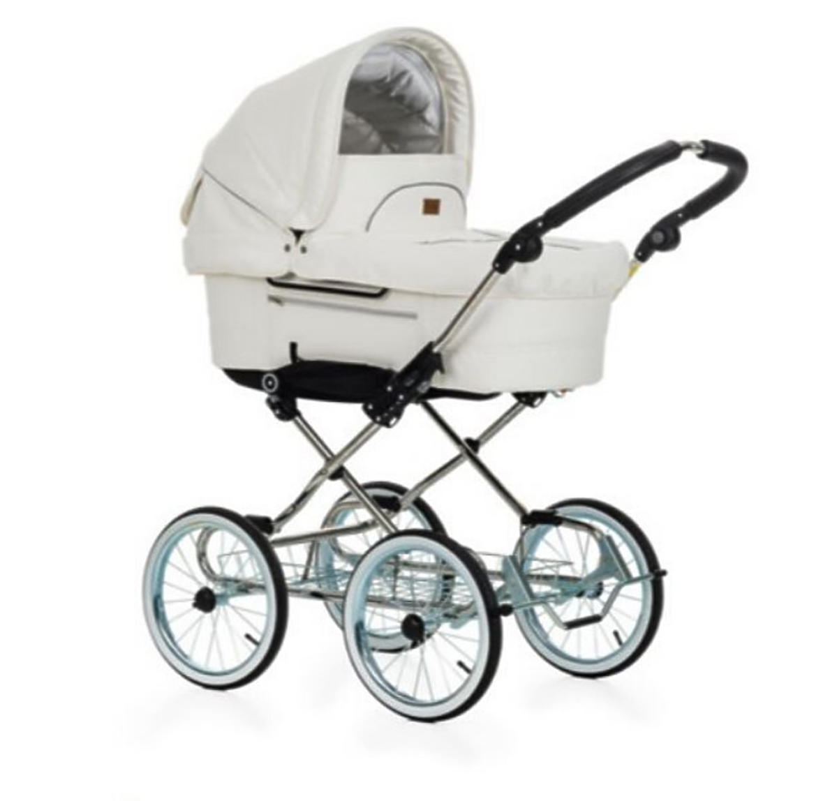 Biały wózek Emmaljunga