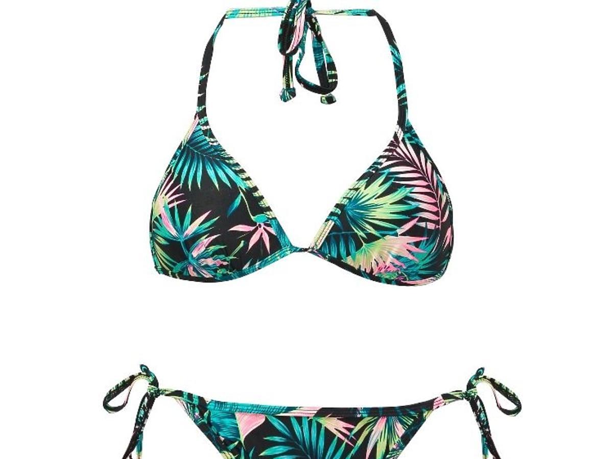 bikini w tropikalne wzory Sinsay