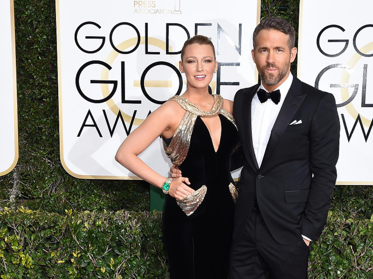 Blake Lively i Ryan Reynolds na rozdaniu Złotych Globów