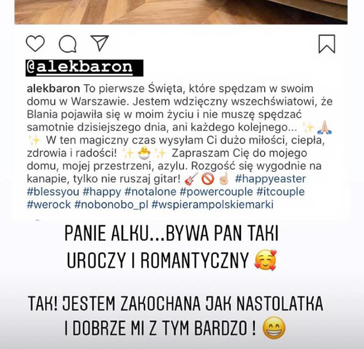 Blanka Lipińska o wyznaniu Barona