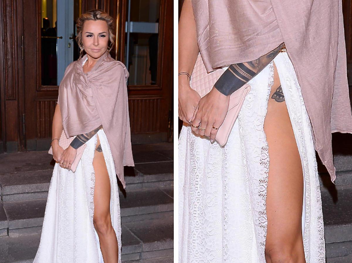 Blanka Lipińska w białej sukni