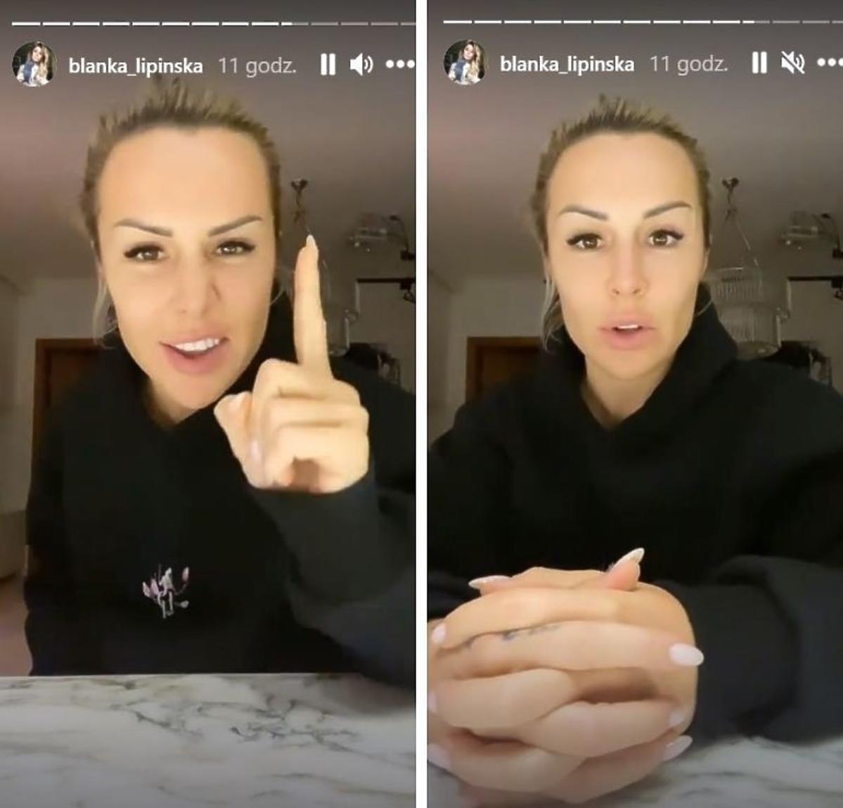Blanka Lipińska w czarnej bluzce