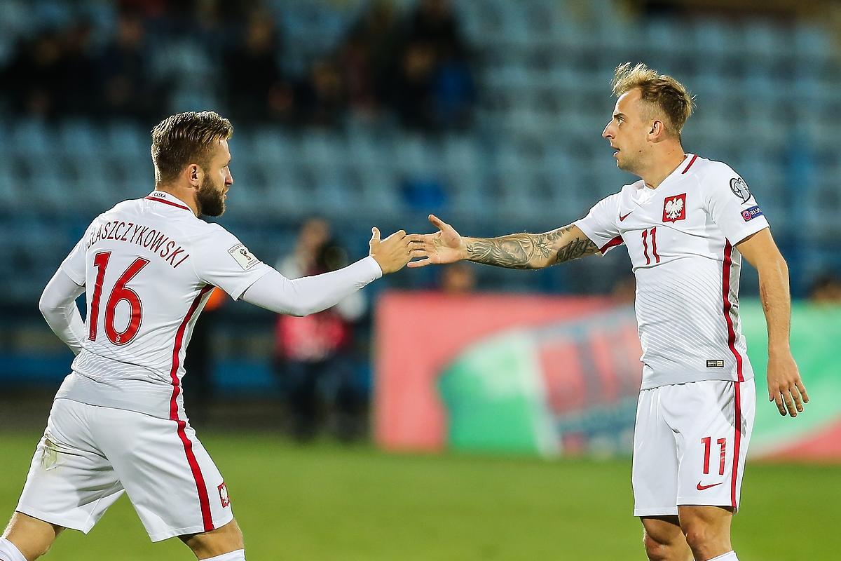 Błaszczykowski i Grosicki podczas meczu Polska - Armenia