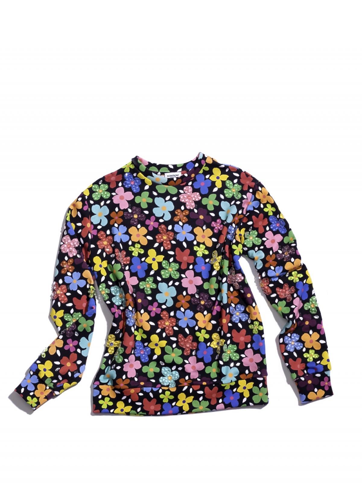 bluza w kolorowe kwiatki