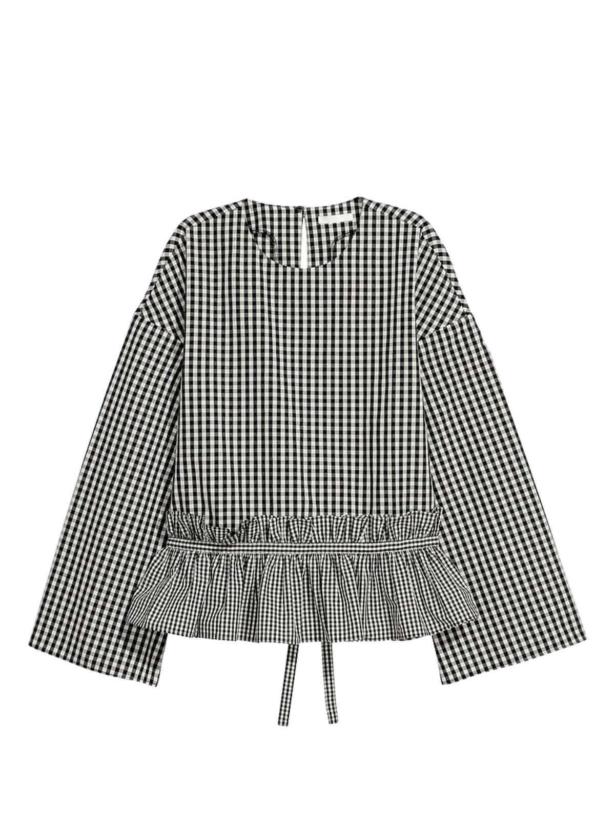 bluzka w kratkę H&M