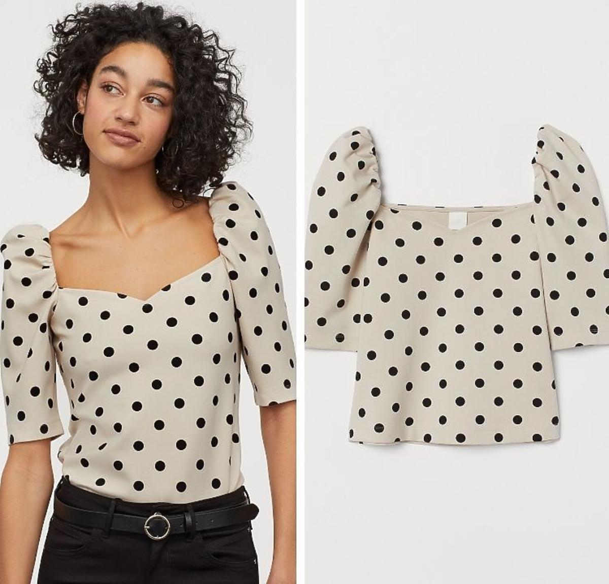 bluzka w kropki H&M