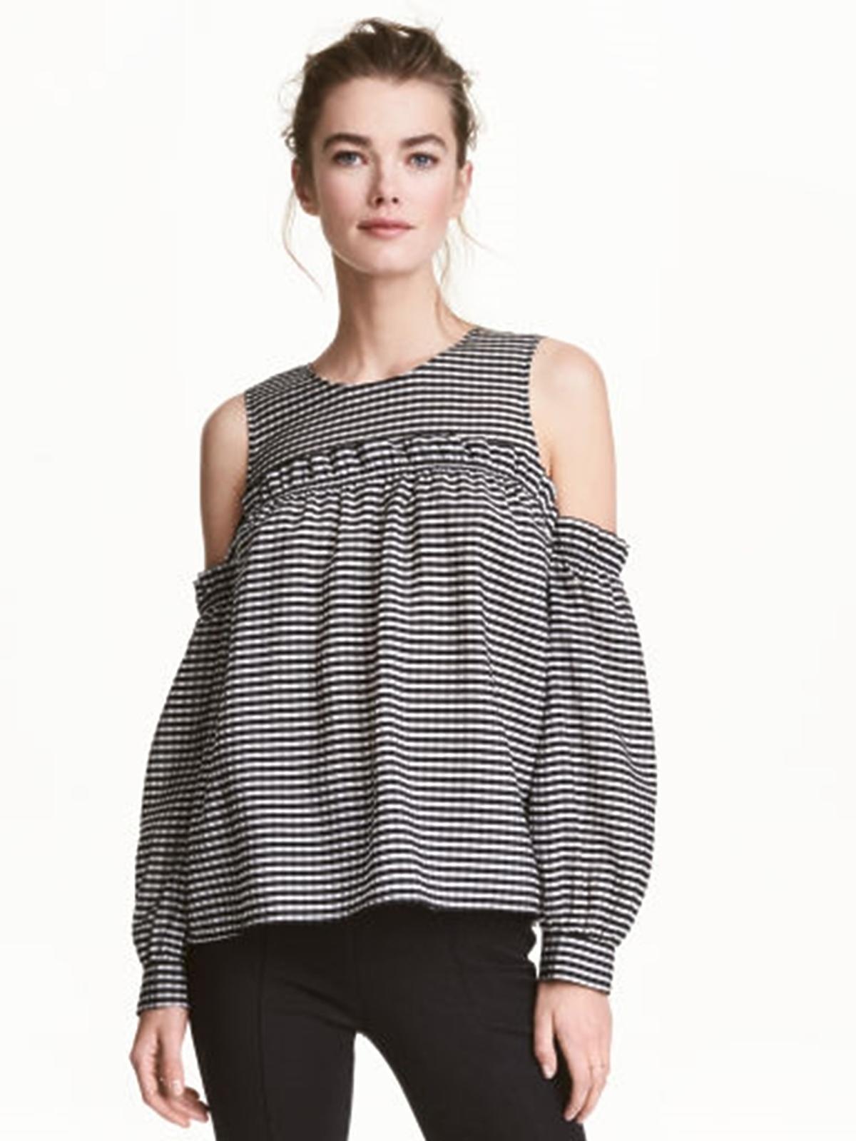 Bluzka z odkrytymi rękawami, H&M, 129,00 zł