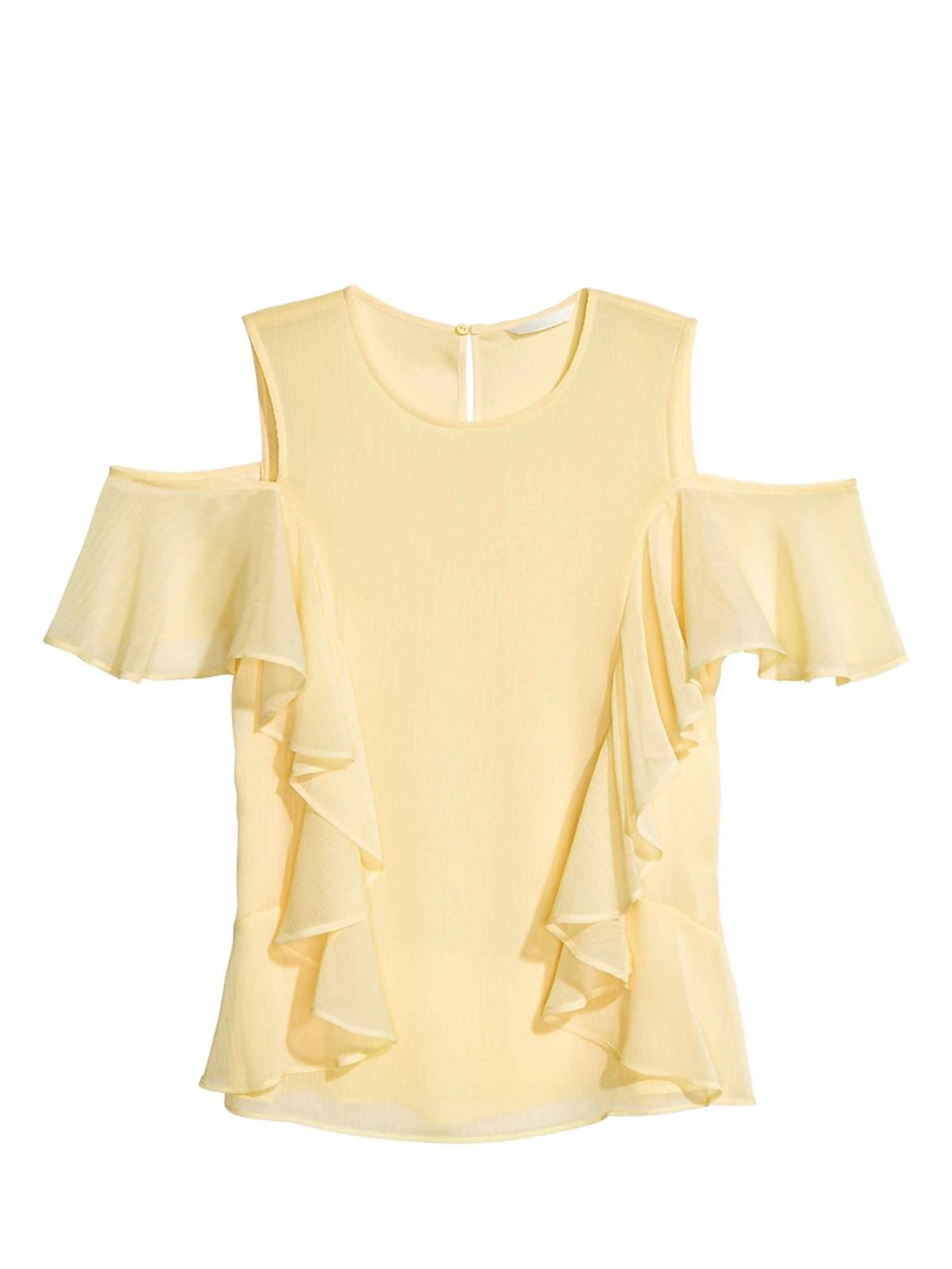 Bluzka z odkrytymi rękawami, H&M, 99,00 zł