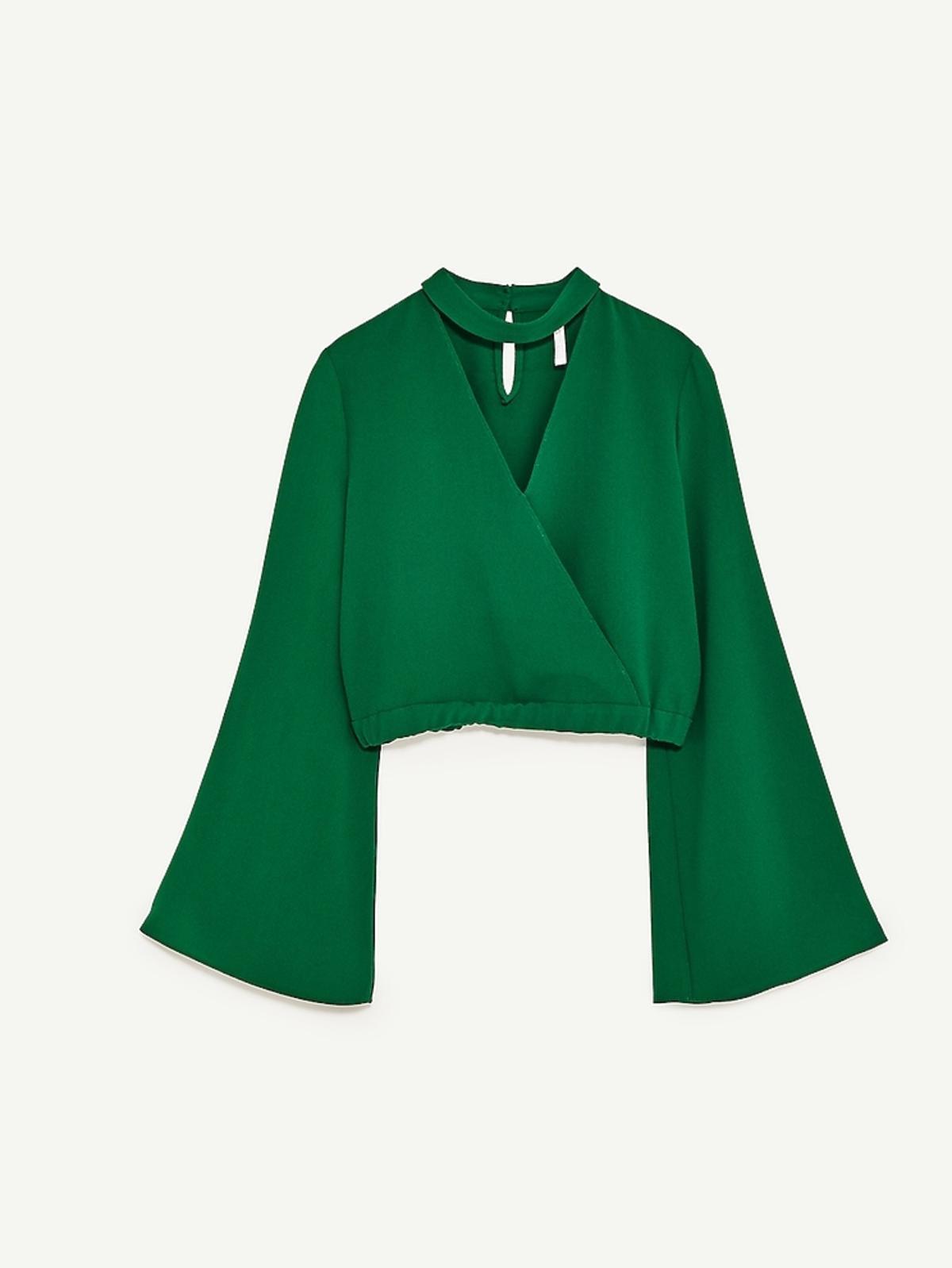 Bluzka z szerokimi rękawami Zara, 89,90 zł