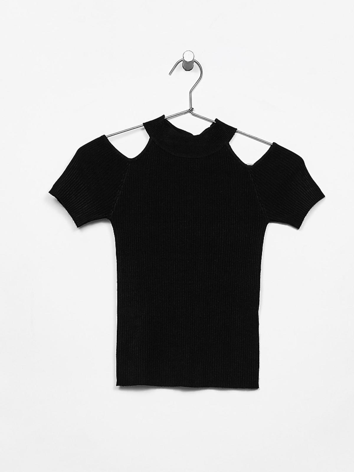 Bluzka z wycięcami na ramiona, Bershka, 49,90 zł