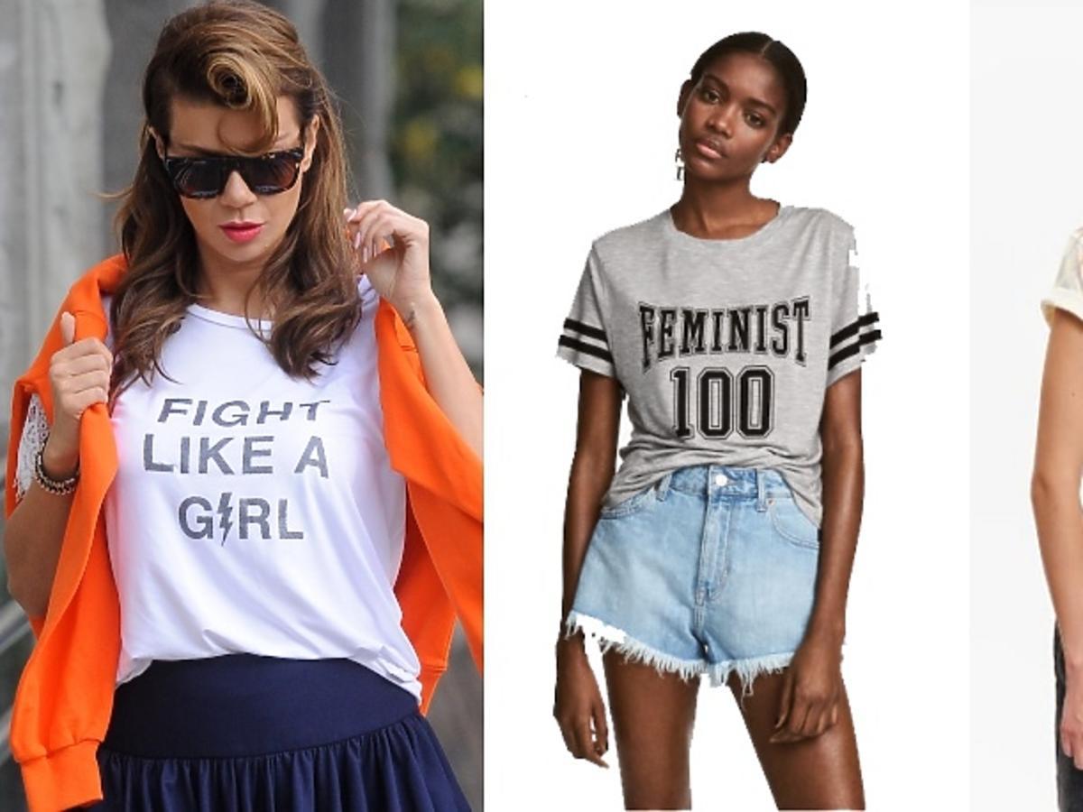 bluzki z feministycznymi hasłami