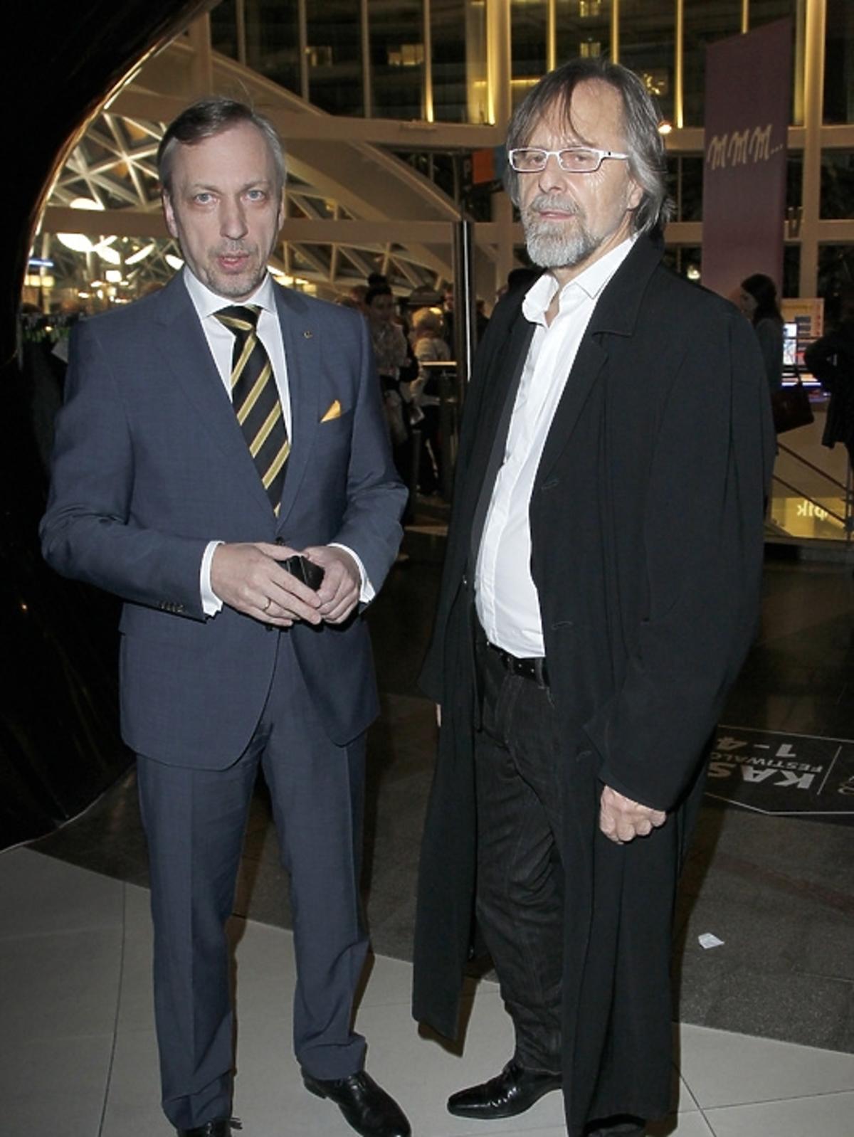 Bogdan Zdrojewski i Jan Kaczmarek na otwarciu Warszawskiego Festiwalu Filmowego