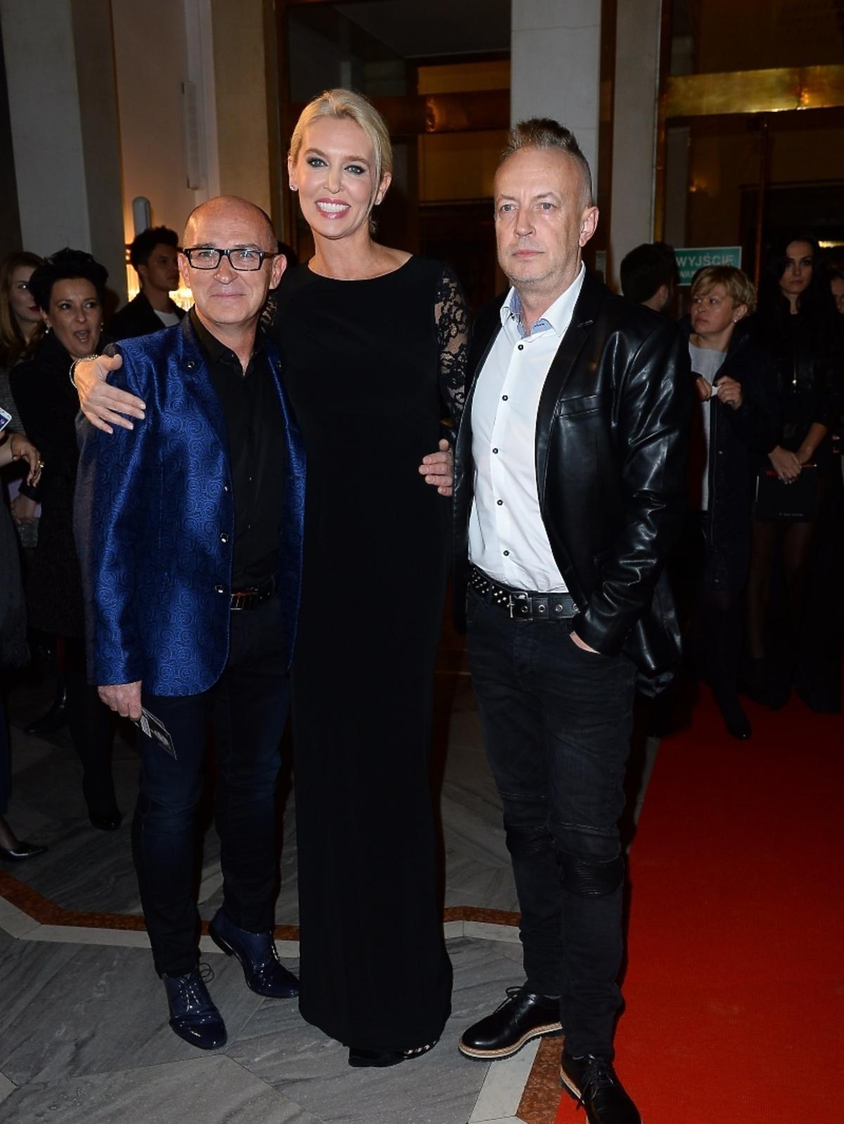 Bogna Sworowska i Andrzej Krzywy na imprezie Flesz Fashion Night