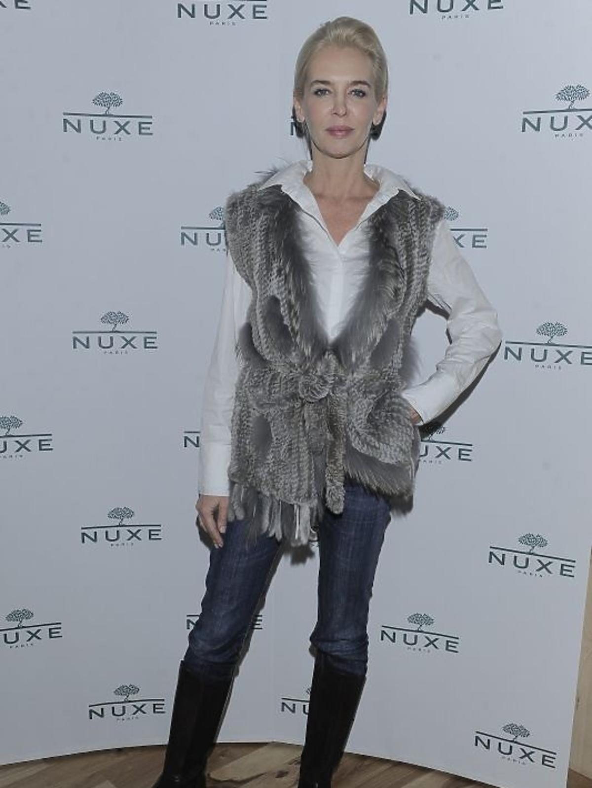 Bogna Sworowska na konferencji prasowej Nuxe Nuxellence Jeunesse