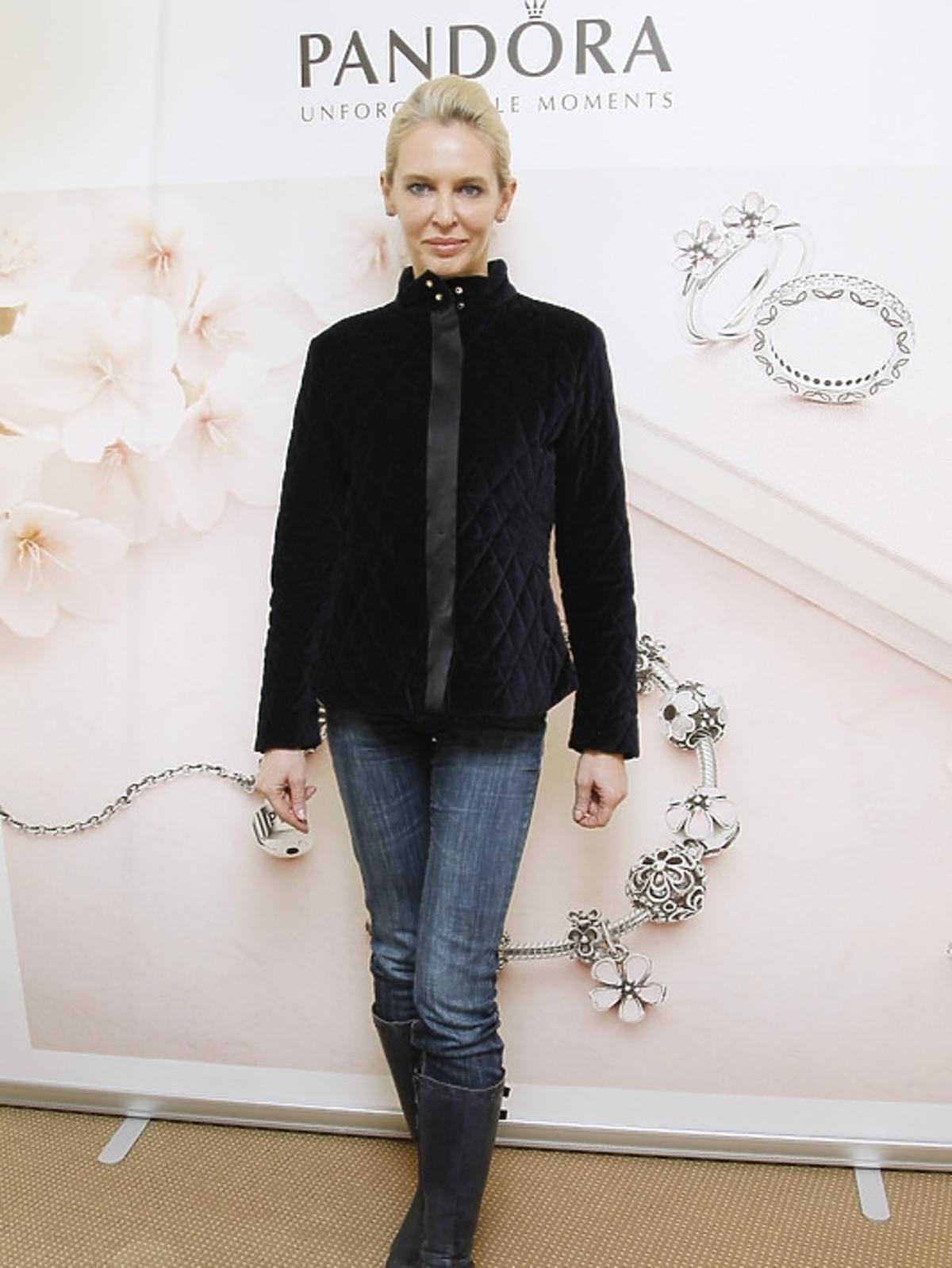 Bogna Sworowska na prezentacji kolekcji Pandora wiosna/lato 2013