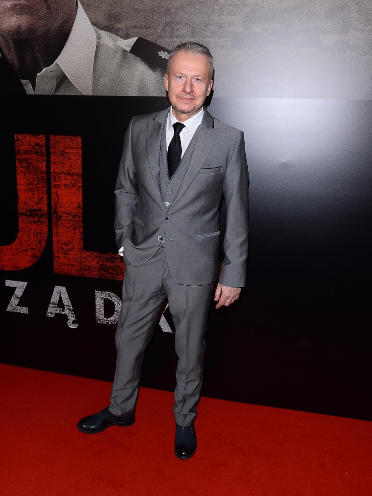Bogusław Linda na premierze filmu