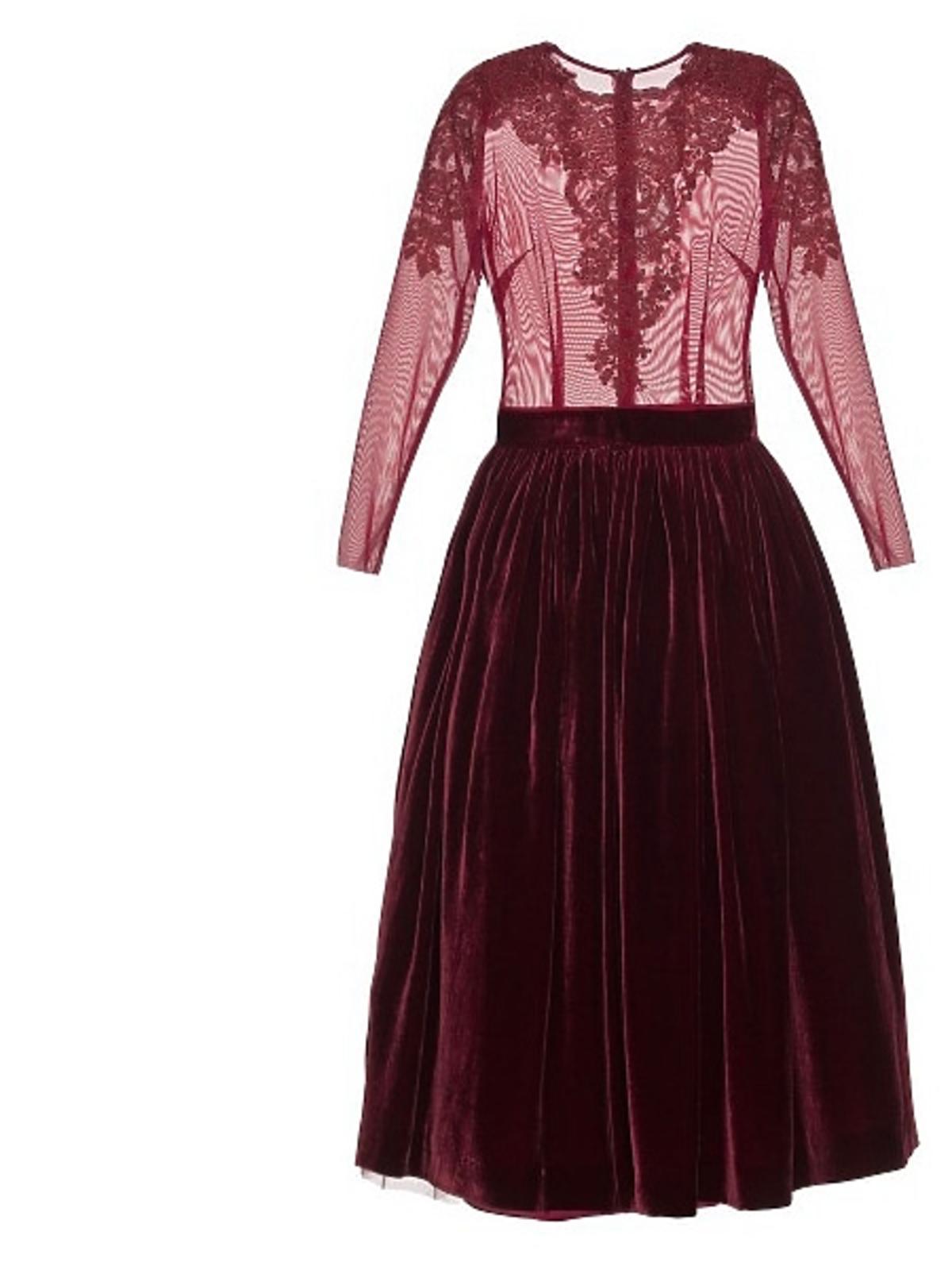 Bordowa sukienka Papillon, cena