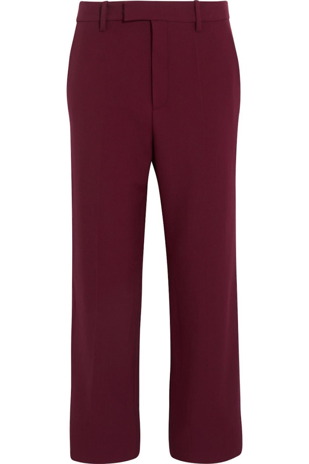 bordowe spodnie Gucci