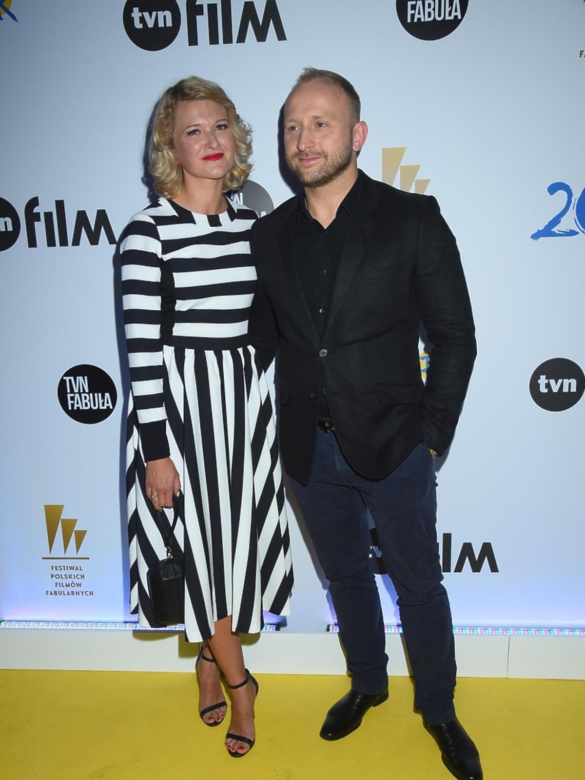 Borys Szyc i Justyna Nagłowska na imprezie TVN na Festiwalu Filmowym w Gdyni