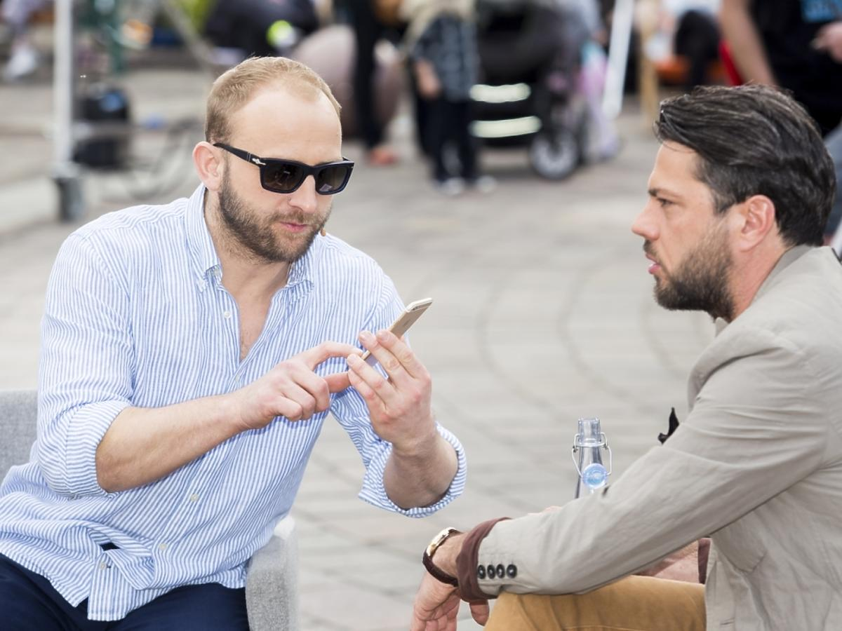 Borys Szyc i Olivier Janiak na Off Plus Camera