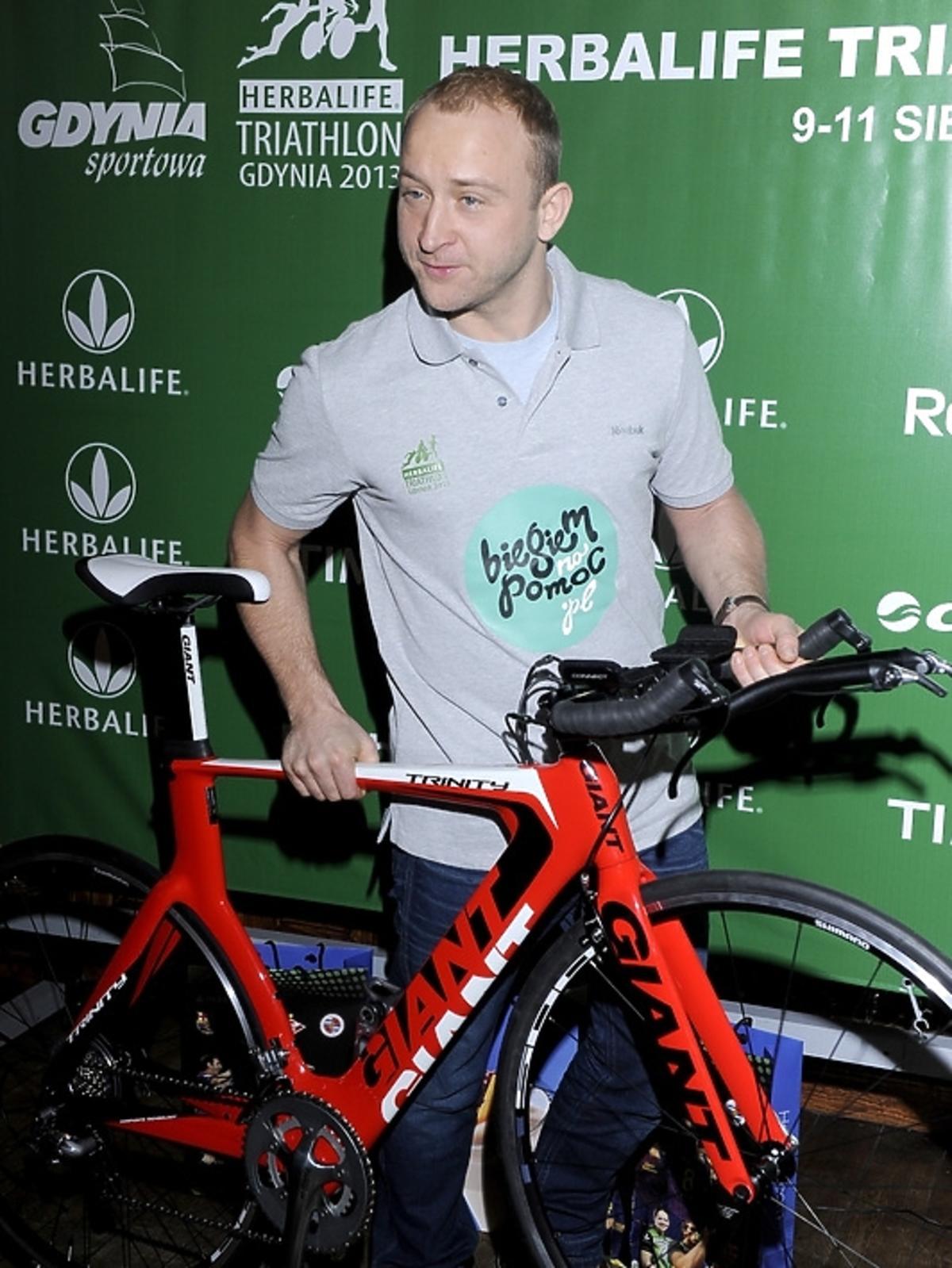 Borys Szyc na konferencji Herbalife Triathlon 2013