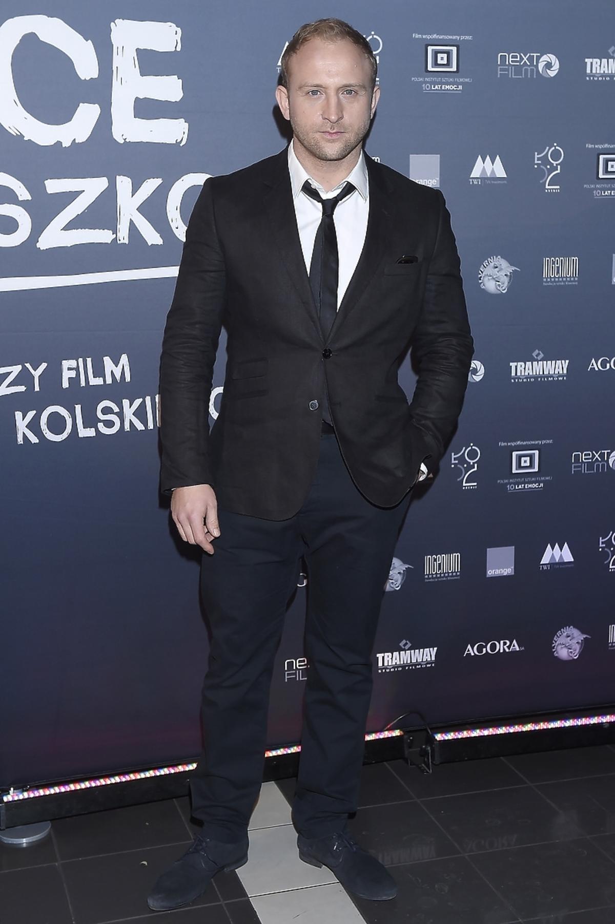 Borys Szyc na premierze filmu