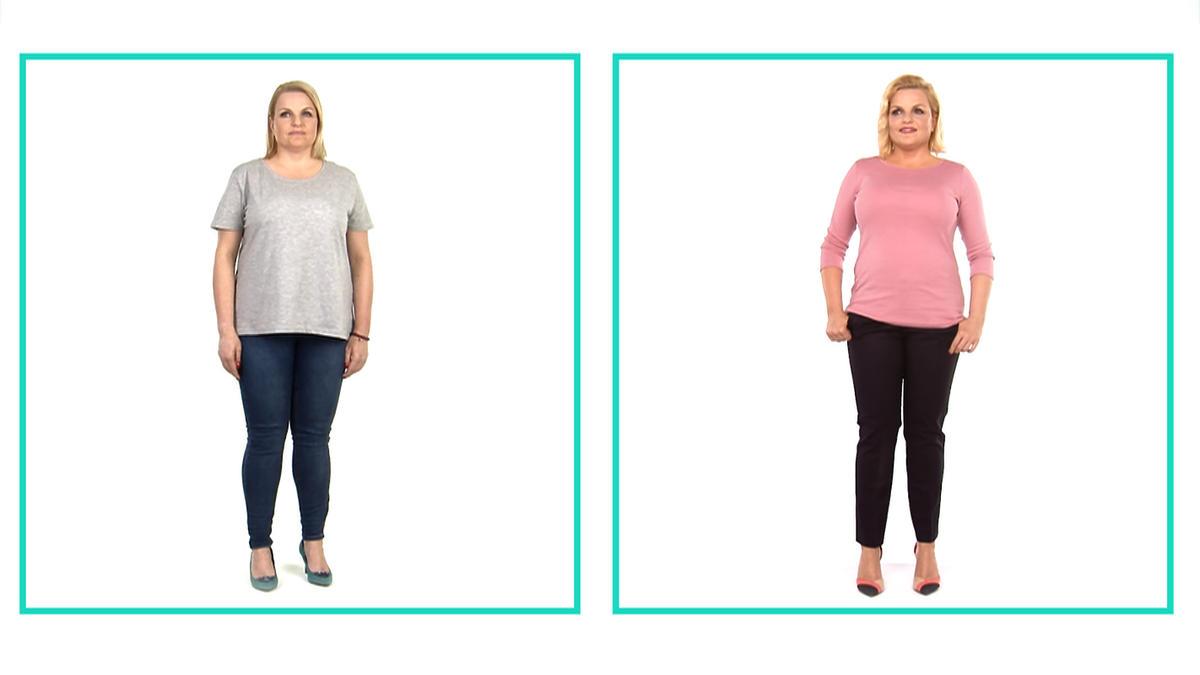 Bosacka przed i po diecie zestawienie