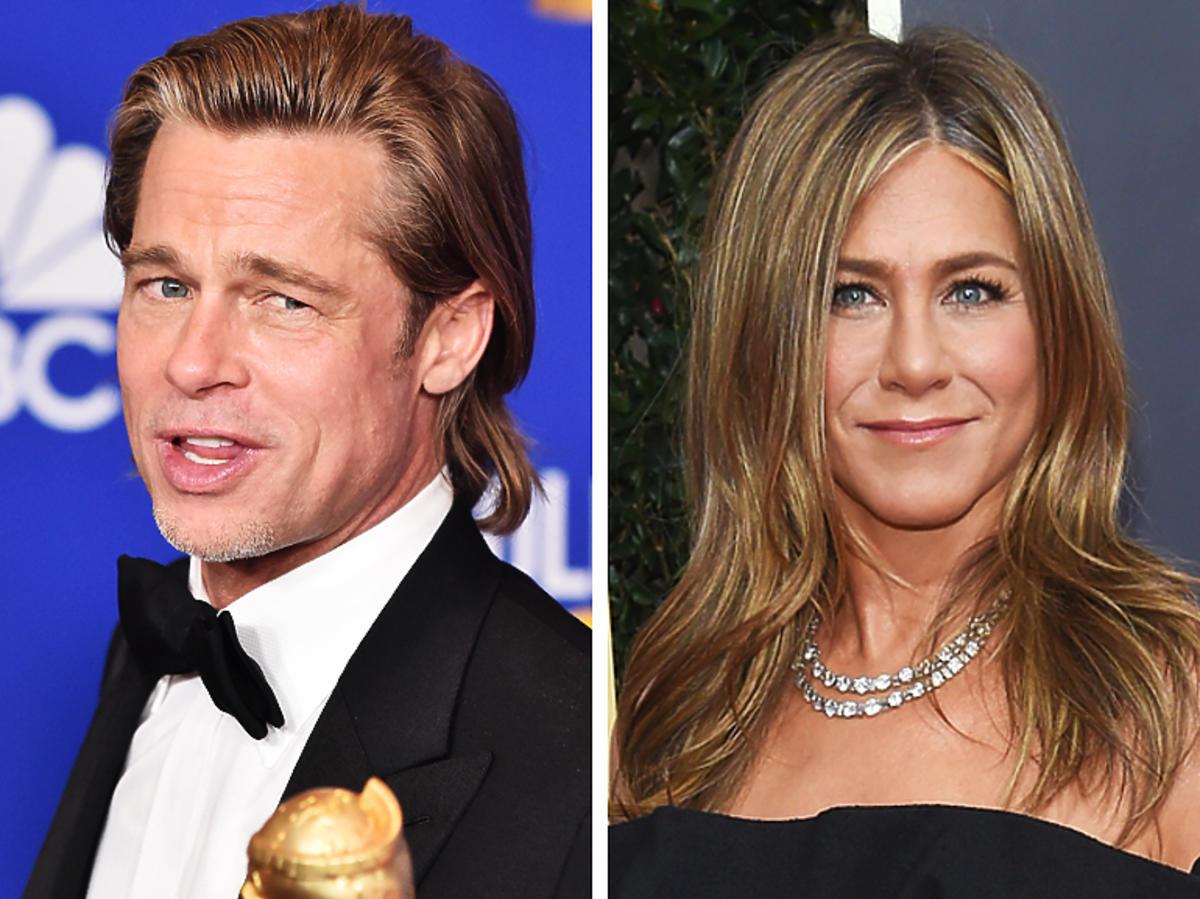 Brad Pitt i Jennifer Aniston wrócą do siebie?! Zobacz reakcję aktorki na żart Brada o randkach na Złotych Globach. Bezcenne!