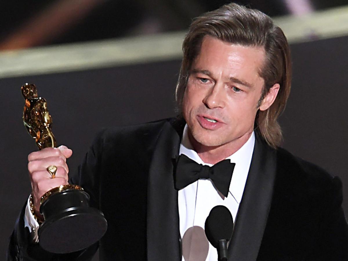 Brad Pitt na gali Oscarów 2020