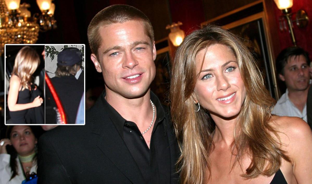 Brad Pitt na urodzinach Jennifer Aniston