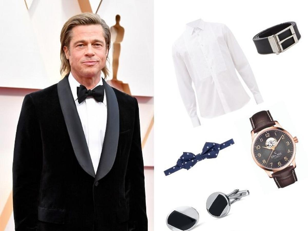 Brad Pitt-(Trendy 2020-stylizacja ślubna pan młody,najmodniejsze dodatki ślubne)