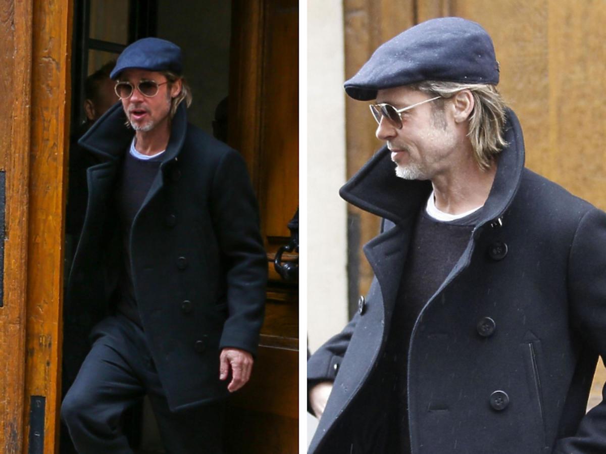 Brad Pitt uśmiechnięty