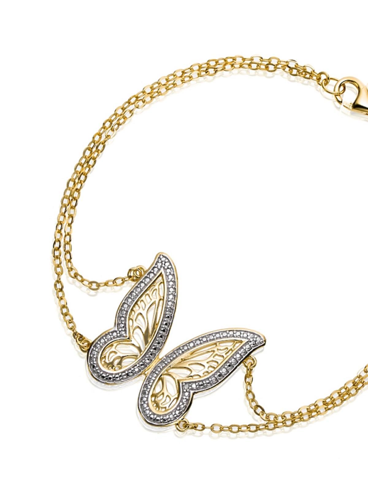 Bransoleta z motylem