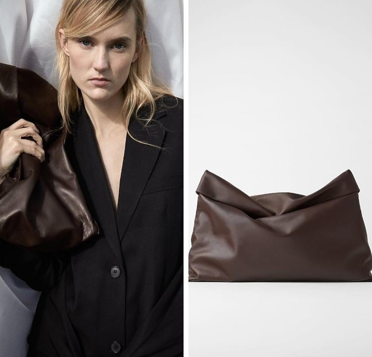 Brązowa kopertówka Zara