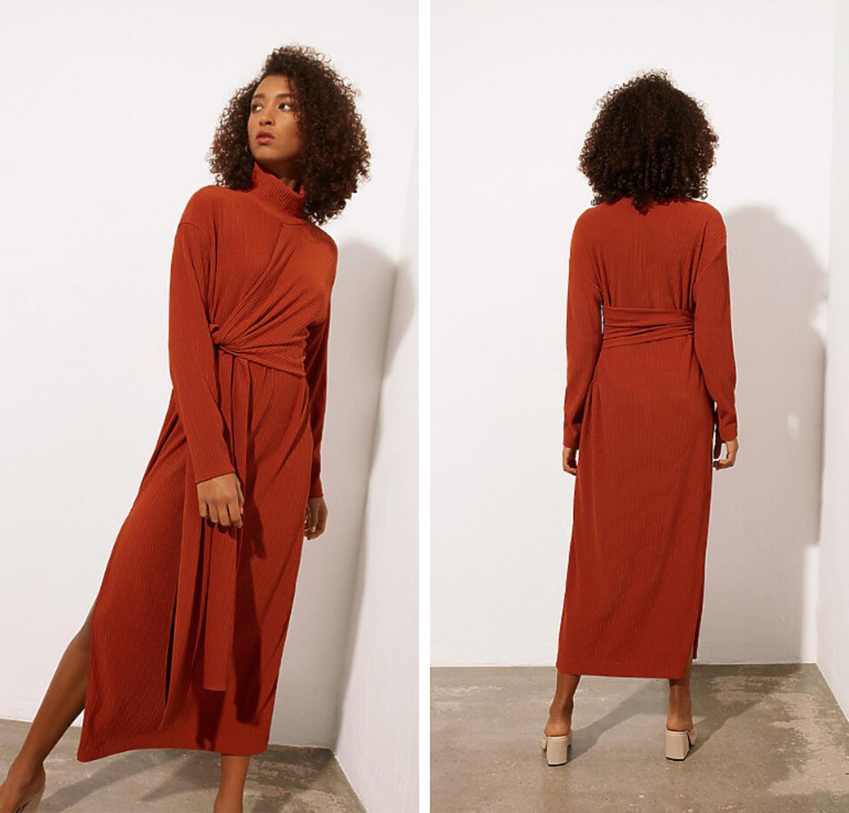 Brązowa sukienka Bohoboco