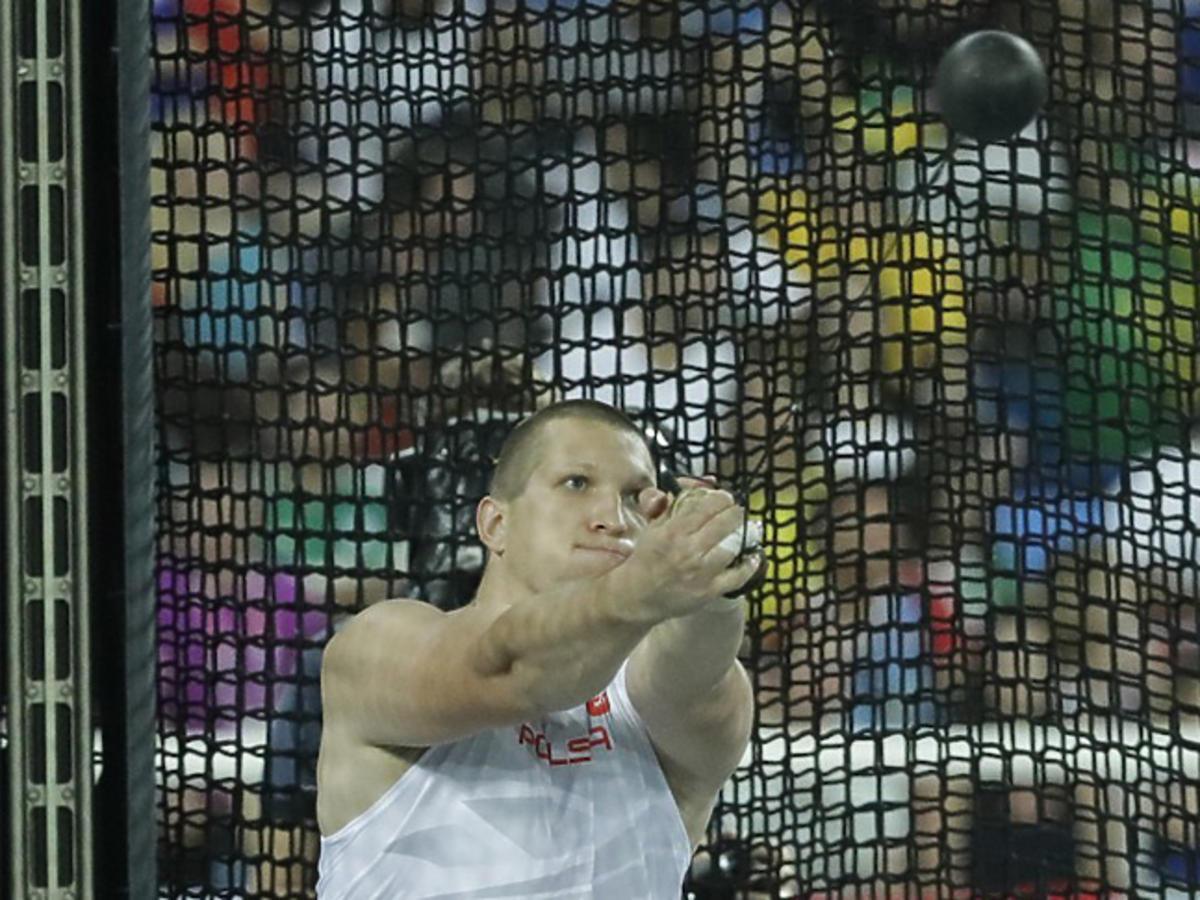 Brązowy medal Wojciecha Nowickiego w rzucie młotem