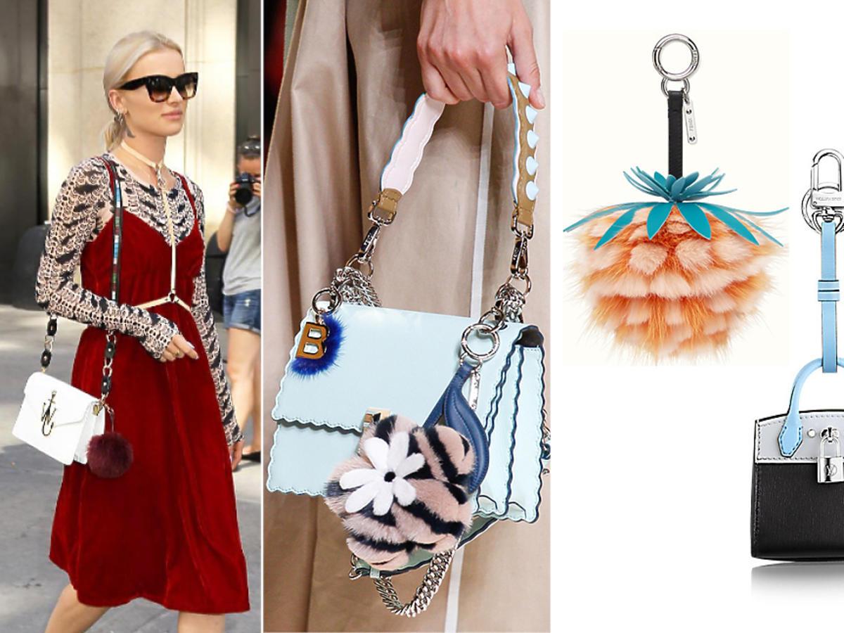 Brelok pompon do torebki - kluczy: Maffashion, Fendi, H&M, Reserved, Zara