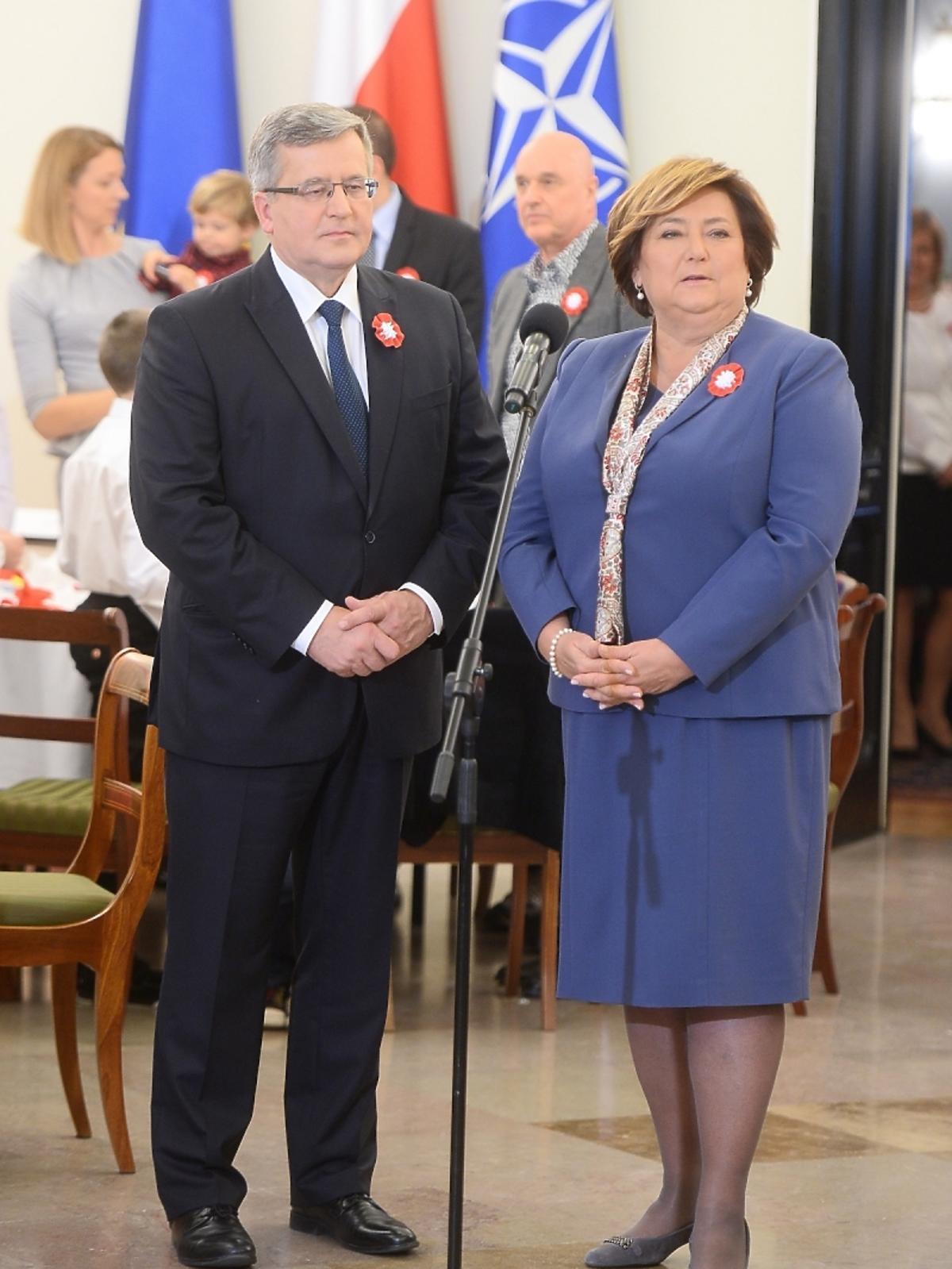 Bronisław Komorowski i Anna Komorowska na spotkaniu z gwiazdami