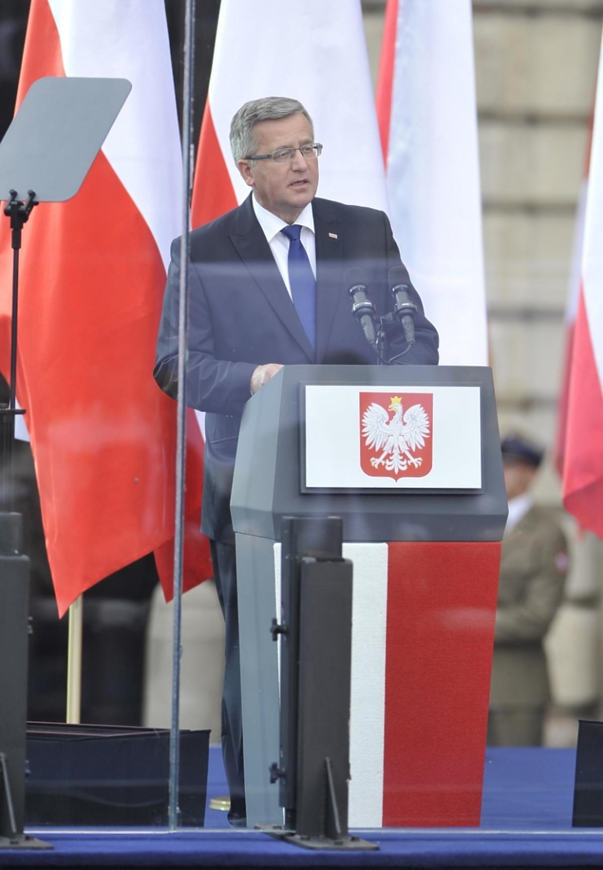 Bronisław Komorowski na uroczystości 25 lat wolności Polski