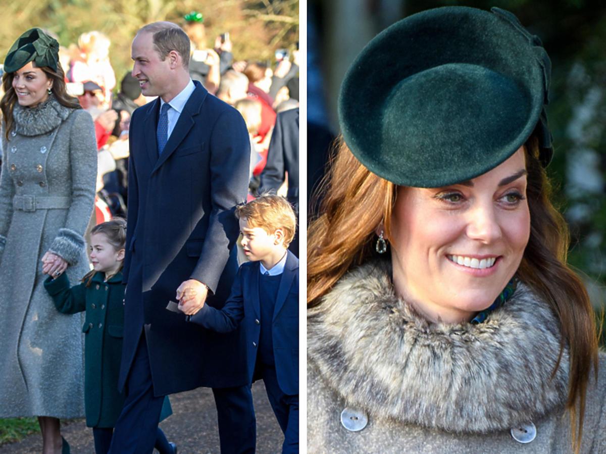 Brytyjska rodzina królewska na mszy świętej z okazji świąt